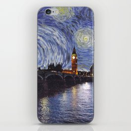 starry night over london iPhone Skin