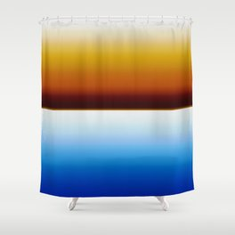 Browns to Blues Shower Curtain