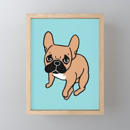 The Cute Black Mask Fawn French Bulldog Needs Some Attention Framed Mini Art Print