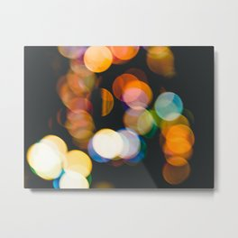 Defocused christmas lights Metal Print
