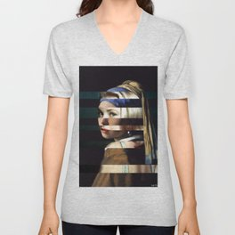 "Vermeer's ""Girl with a Pearl Earring"" & Grace Kelly Unisex V-Neck"