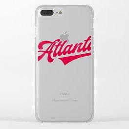 Womens Atlanta Baseball | ATL Pride Brave Retro Gift V-Neck T-Shirt Clear iPhone Case