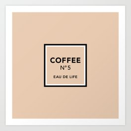 Latte No5 Art Print
