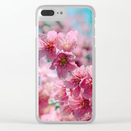 Plum Blossom 3 Clear iPhone Case
