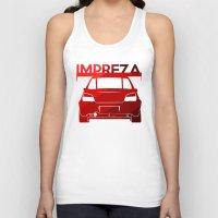 subaru Tank Tops featuring Subaru Impreza - classic red - by Vehicle