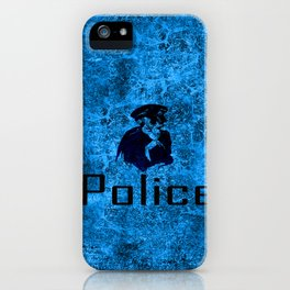 police skull iPhone Case