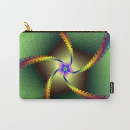 Whirligig in Green Carry-All Pouch