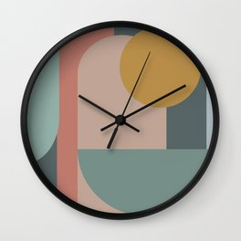 Zen Shape and Color Study 58 Wall Clock