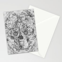Bookmatched Marble Skull Stationery Cards