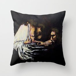 Doubting Thomas Throw Pillow