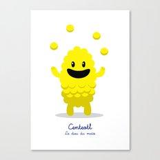 Centeotl - Le dieu du maïs (Lil Gods) Canvas Print