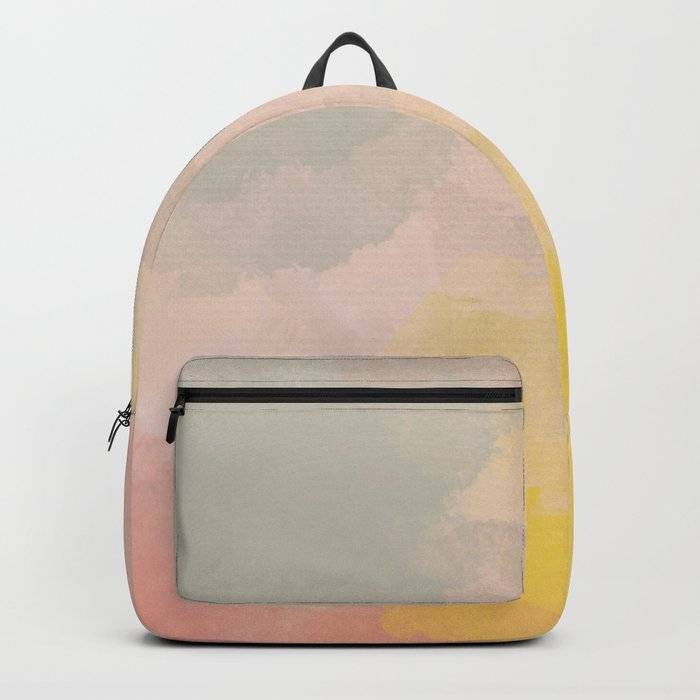 Pretty Watercolor Abstract Painting Rucksack
