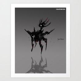 Crazymechs Clipper Art Print