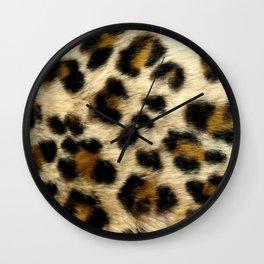 Leopard Print Pattern Animal Print Design Wall Clock
