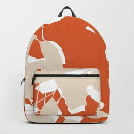 leaves rust and tan Backpack