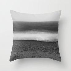 Ocean - 10 Ocean Waves on the Oregon Coast - Fog - Mist - Water - Love - Trees Throw Pillow