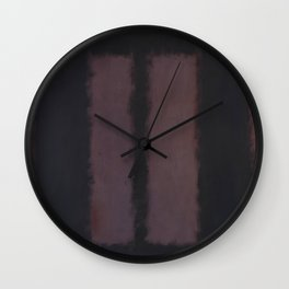 Black on Maroon 1958 by Mark Rothko Wall Clock