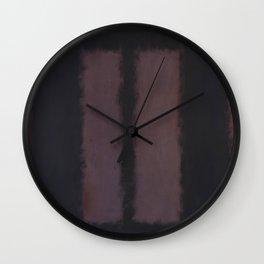 Black on Maroon 1958 by Mark Rothko Wall Clock