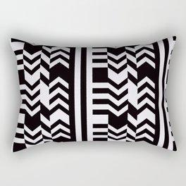 Striped Kilim in Black + Bone Rectangular Pillow