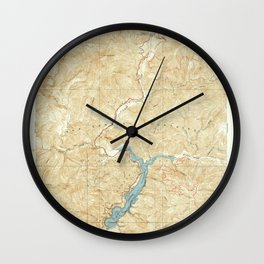 Camp Rincon, CA from 1940 Vintage Map - High Quality Wall Clock