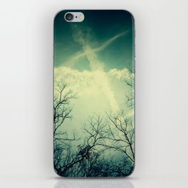 painting through the sky . iPhone Skin