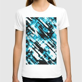 Hot blue and black digital art G253 T-shirt