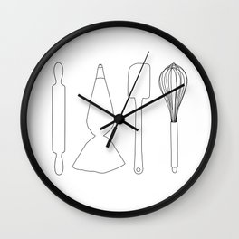 Baker Baking Tools - White Wall Clock
