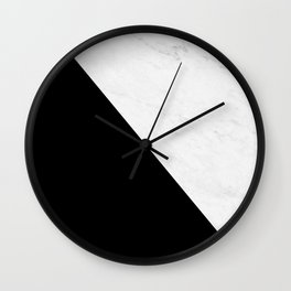 Marble And Black Diagonal Wall Clock