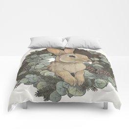 winter rabbit Comforters
