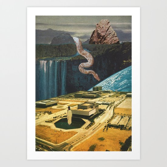 Snake in the grass (with Jesse Treece) Art Print