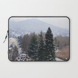 Ohrid lakeshore from above Laptop Sleeve