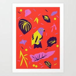 Parrot Jungle Art Print