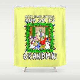 Christmas  |  Santa  |  Grandma Shower Curtain