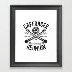 Cafe Racer Reunion Vintage Tools Poster Framed Art Print