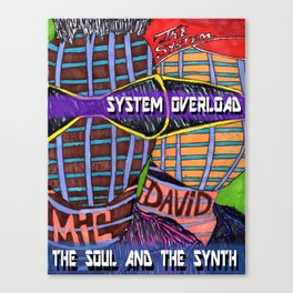 The Soul and the Synth Canvas Print