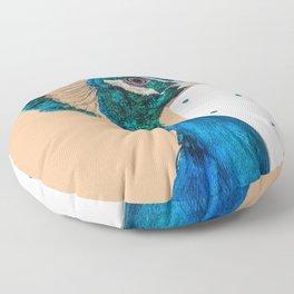 The Peacock Floor Pillow