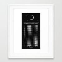 calendar 2015 Framed Art Prints featuring 2015 Moon Calendar by Nick Wiinikka