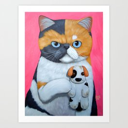 DIRTY VOODOO DOG Art Print