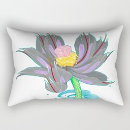 Pink Diamond Mech Lotus Rectangular Pillow