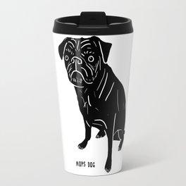 Pug Illustration Travel Mug