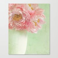 peonies Canvas Prints featuring Peonies by Lizzy Pe
