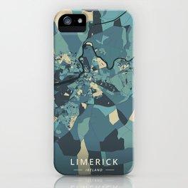 Limerick, Ireland - Cream Blue iPhone Case