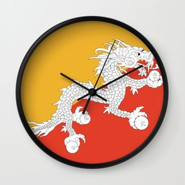 Bhuan flag Wall Clock