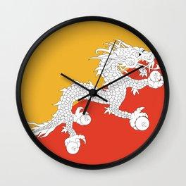 Bhuan flag Wall Clock