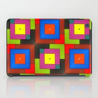 frames iPad Cases featuring Colorful Frames by Sara Dowling