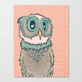 Owl wearing glasses II Canvas Print