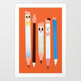 I love pencils Art Print