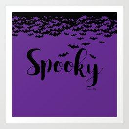 Spooky - purple/black Art Print