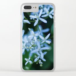 Floral Print 084 Clear iPhone Case