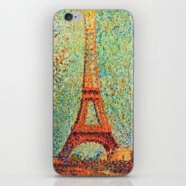 Eiffel Tower by George Seurat iPhone Skin